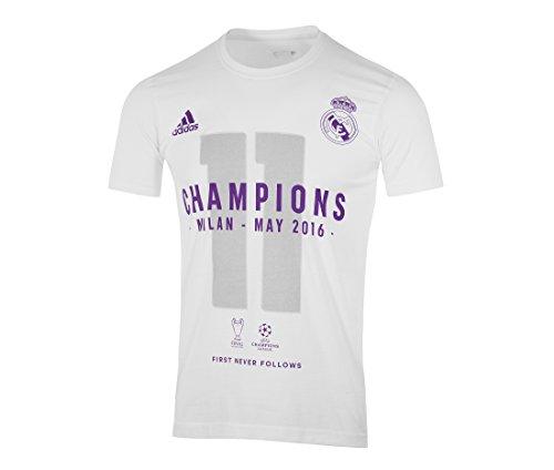 Offizielles adidas Champions League Sieger T-shirt 2016 weiss - Kinder - 152cm