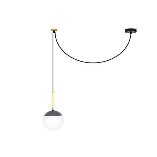 Faro Barcelona 28376 – Lampe Suspension Gris foncé E27 40 W