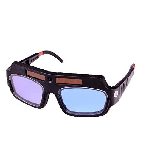 OMKMNOE Gafas de Soldadura, Coche Solar Descendimiento Gafas de Soldadura Protección de Seguridad Soldadura Gafas Casco Anti-Niebla,Negro