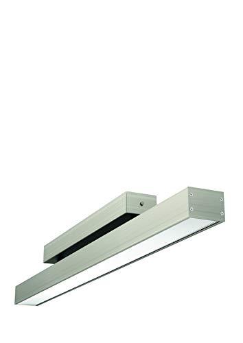 Evotec OFFICE ONE LED Deckenleuchte, Plexi / 4000K / 25W / 3920 Lumen, Aluminium, 25 W, nickel gebürstet, Small