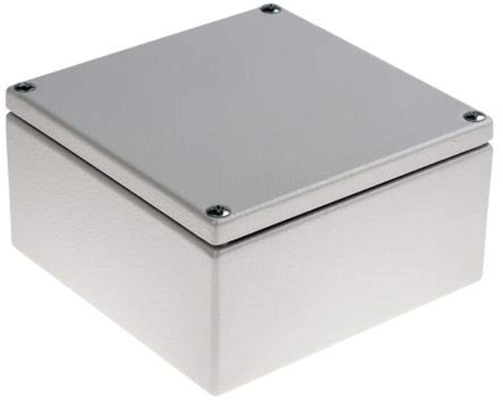 音楽を聴く見つける長椅子RS PRO ジャンクションボックス, 軟鋼, グレー, 150 x 80 x 150mm IP66 7491888