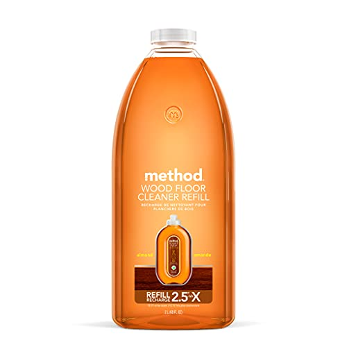 Method Squirt + Mop Hardwood Floor Cleaner Refill, Almond, 68 Ounce, 1 pack, Packaging May Vary