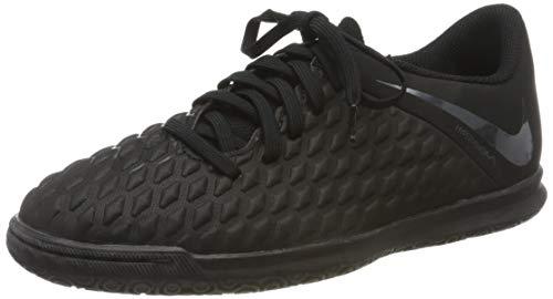 Nike Jr Hypervenom 3 Club IC, Scarpe da Calcetto Indoor Unisex-Bambini, Nero (Black/Black 001), 33 EU