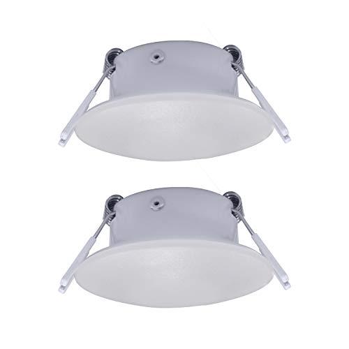 Facon Runde 12 V LED Puck Licht Deckenleuchte Innenbeleuchtung Einbauleuchte für Campervan Wohnmobil Wohnwagen Anhänger Boot Marine und Fahrzeug