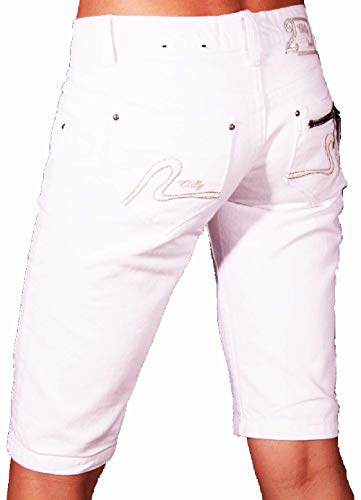 2Chilly dames short jeans jeansshort denim wit alleen wit capri soccx chino wow sale out! Uitverkoop