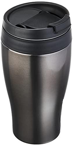 ドウシシャ タンブラー ふた付き コンビニマグ ダイレクトタイプ 真空断熱 直接ドリップ 0.36L ブラック CBCT400BK