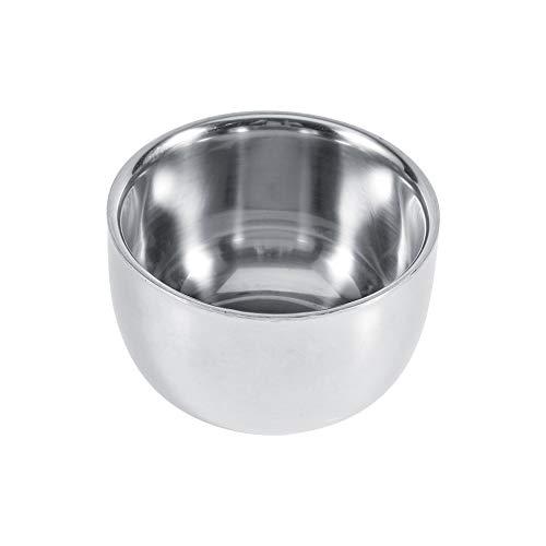 Tazones de jabón de afeitar, tazón de espuma de acero inoxidable, tazón de brocha de afeitar Peluquería de afeitar de acero inoxidable taza de tazón de taza de jabón, tazón