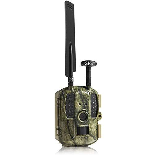 """YGWLWL Tragbare Jagdkamera,4G APP GPS Wildlife-Kamera,12MP 1080P Trail Game-Kameras Mit 2,0\"""" LCD 120° Weitwinkel Len Und 52LED 950NM Infrarot Nachtsicht,IP66 Wasserdicht"""