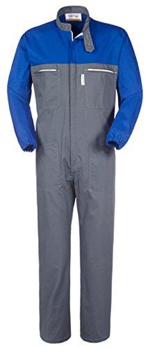take time/lancelot Tuta da Lavoro Collo Coreana Grigio Blu Royal Gabardine 245 G/M A41207 (XXL)