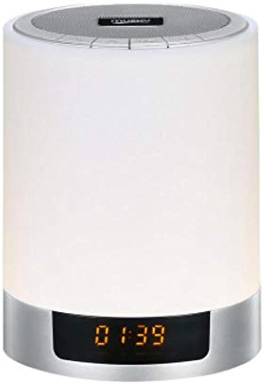PLZY Nachtlicht LED Kreatives Geschenk 7 Farben Dimmbar Blautooth-Audio Schlafzimmer Nachttischlampe 13,3  9,7 cm