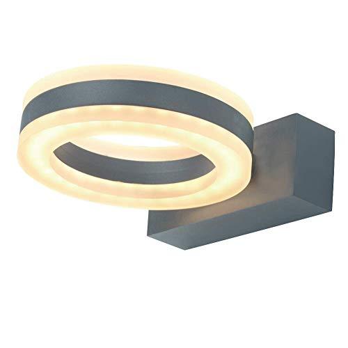 WHL.HH Aplique Exterior LED, 8W Aluminio Arriba O Abajo Lámpara Exterior Ajustable, Lámpara Exterior para Jardín, Pasillo, Patio, Balcón, Terraza,A