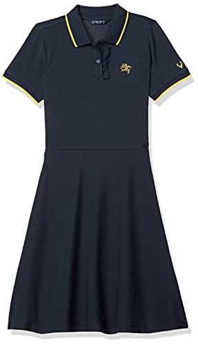 Allen Solly Junior Polycotton A-Line Dress (AGDRCRGFS08555_Navy_14)