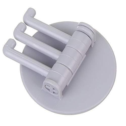 IADZ Gancho adhesivo, gancho adhesivo sin costuras de carga de 5 kg, gancho giratorio con soporte fuerte, gancho de pared para cocina, colgador de pared para baño, cocina