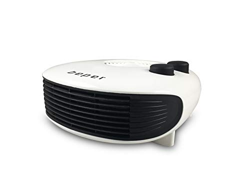 Beper RI.093 – Termoventilatore Orizzontale Salvaspazio, Pratico, Design Moderno, Termostato Regolabile, Due Potenze, Fan Heater