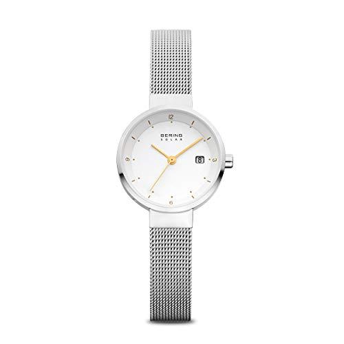 BERING Reloj Analógico Solar Collection para Mujer de Energía Solar con Correa en Acero Inoxidable y Cristal de Zafiro 14426-001