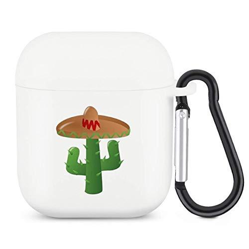Funda para Airpods con llavero de silicona y cactus mexicanos, accesorios de protección compatibles con Apple Airpods 2 y 1 para Grils Boys