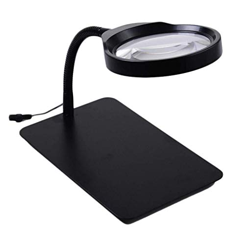 Good dress Hd Desktop 36Led Circle Light Adjustable Brightness Plug-in Magnifier for Reading Crafts Repair Magnifier