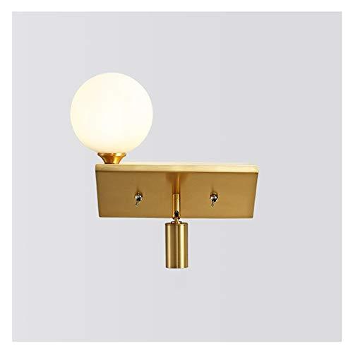 Lámpara de pared Lámpara de pared montada en la pared de la pared Lámparas de fijación de la iluminación de la iluminación de la pared de la pared con las lámparas de la pared de la sombra acrílica pa