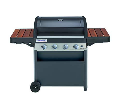 Campingaz 4 Series Classic WL Gasbarbecue met 4 roestvrijstalen branders, staande barbecue met deksel en thermometer, InstaClean reinigingssysteem