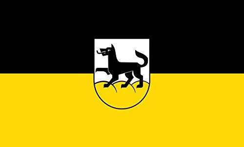 Unbekannt magFlags Tisch-Fahne/Tisch-Flagge: Wolfegg 15x25cm inkl. Tisch-Ständer