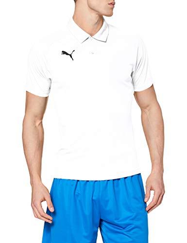 PUMA Liga Sideline Polo Homme Puma Blanc/Puma Noir FR : L (Taille Fabricant : L)