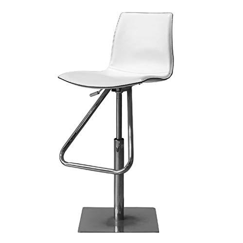 Chaises de bureau Chaise Pivotante Chaise De Bar Tabouret en Hauteur Peut Supporter 100 Kg Cadeau (Color : Blanc, Size : 38 * 38 * 74-104cm)