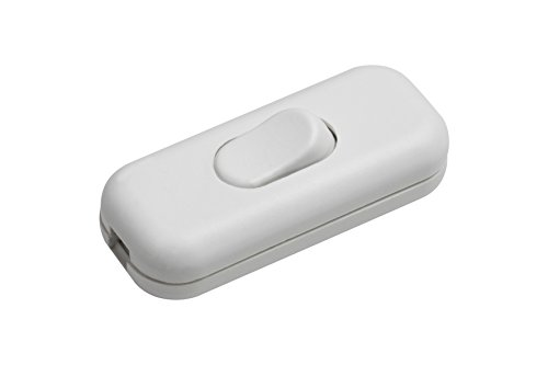 Meister Schnur-Zwischenschalter 1-polig, 2,5 A, Zugentlastung, weiß, 7441210