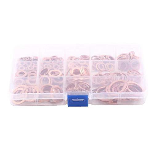 linjunddd 280pcs O-Ring-Dichtung Ring Sortiment Kits Isolierdichtung Washer Seals Ring Geschenke Für Craft Lovers