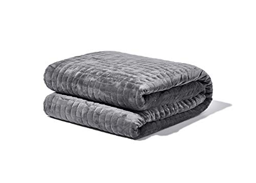 "48"" x 72"" 15lb Weighted Gravity Throw Blanket with Removable Cover Gray  - Gravity"