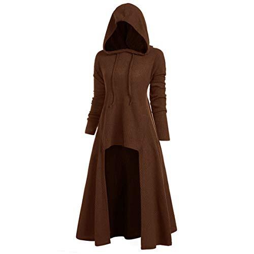 Damen Lange Hoodies Damen Casual Pullover Mode Mit Kapuze Plus Size Vintage Mantel High Low Bluse Tops Spring Moonuy