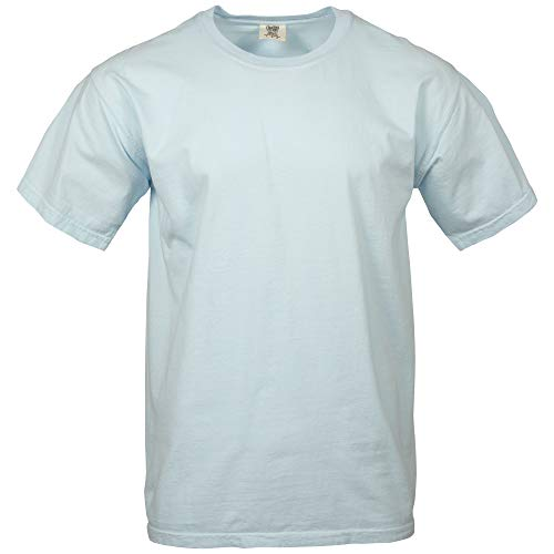 Comfort Colors Men's Adult Short Sleeve Tee, Style 1717, Chambray, Large