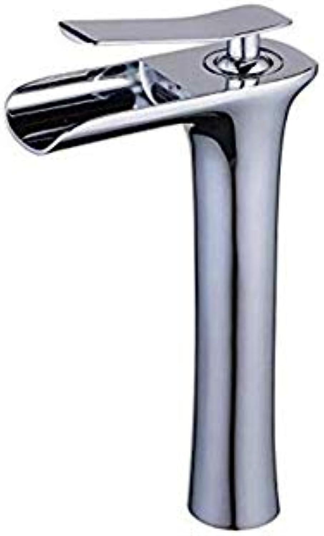 Brass Wall Faucet Chrome Brass Faucetretrosingle Handle Waterfall Spout Tall Bathroom Sink Tap