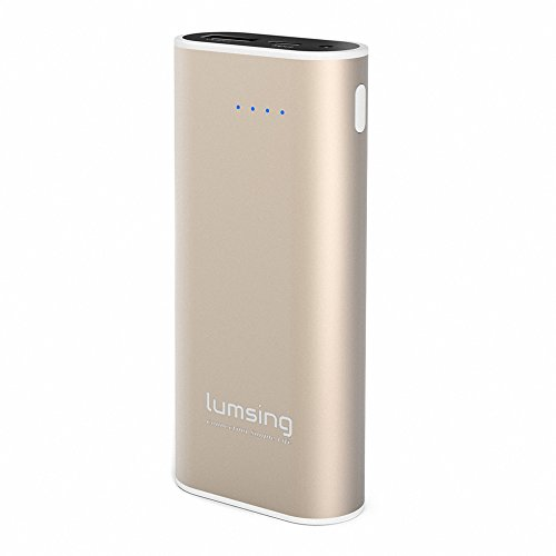Lumsing Power Bank Grand A1 Mini 6700mAh 2-Port Externe Akku für iPhone Samsung S6 Edge HTC Smartphones Tablets Gold