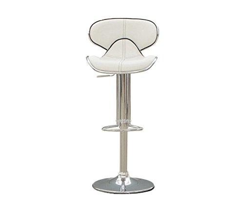 DNSJB Retro Bar Chair, Creative Sillón Industrial Style PU Bar Chair Mostrador de recepción Cash Register Bench Coffee Chair Sillón de elevación Giratorio tapizado Trona con Respaldo