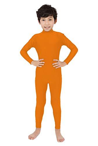 SK Studio Niño Disfraz de Segunda Rocío Pie Mano Abierta Traje Leotardo Corporal de Licra Body Naranja S
