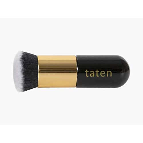 Taten Make Up brush Foundation Kabuki Flat Top, blending concealer brush for Cream or Powder Cosmetics Flawlessly! Synthetic Dense Bristles of Premium Quality