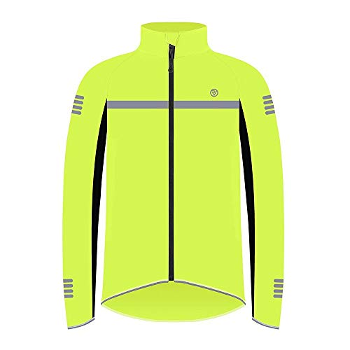 Proviz Classic Hi Viz Reflective Mens Softshell Cycling Jacket Hi Visibility Cycle Bike Coat Yellow XXL