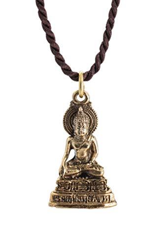 Sukhothai Bhumisparsha Mudra Earth-Touching Golden Buddha Thai Amulet Pendant