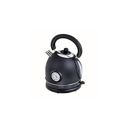 Bouilloire rétro avec thermomètre noire