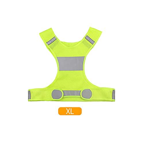 HNZZ Chaleco de Ciclismo Reflectante Cintura Ajustable Flecha de Flecha Bicicleta Noche Seguridad Deportes Caminar Corriendo Correr Correr Chaleco reflexivo (Color : Yellow XL)