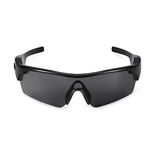 FPTB Occhiali A Conduzione Ossea,Occhiali da Sole Bluetooth Polarizzati, Vivavoce E Musica Stereo Cuffie Impermeabili Wireless con Microfono per iOS/Android (Smart Touch),Nero