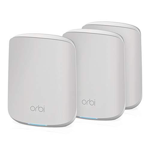 NETGEAR Système WiFi 6 Mesh Orbi (RBK353), Pack de 3, Routeur WiFi 6 AX1800, WiFi nouvelle génération, WiFi jusqu'à 1.8...