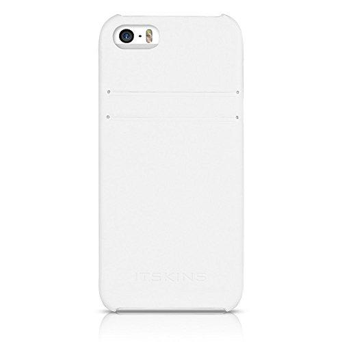 ITSKINS da iaph5Cardc Wite Corsa Leather per Cellulare per Apple iPhone 5/5S, Colore: Bianco