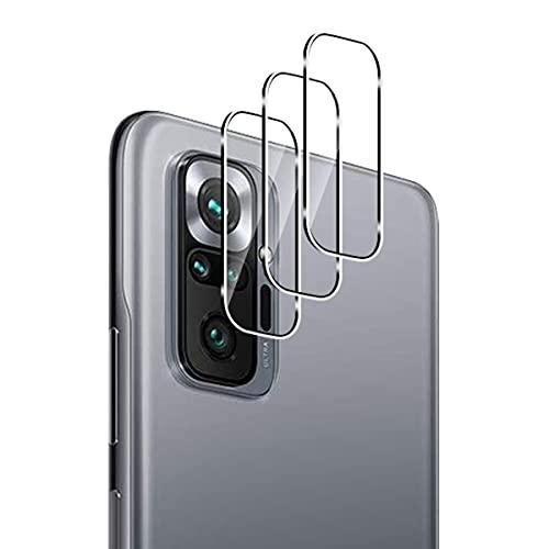 GEEMEE Protector de Lente de cámara para Xiaomi Redmi Note 10 Pro, 3 Pack Cristal Templado Película Vidrio Templado 9H Alta Definicion Glass Screen Protector Film (Transparente)
