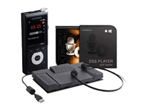 Olympus Kit de Inicio de Dictado y transcripción, Incluye grabadora de Voz (DS-2600), Pedal de transcripción (RS28H), Auriculares de transcripción (E103), Software de transcripción (DSS Player)