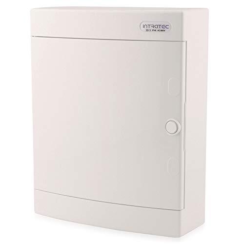 Sicherungskasten Aufputz IP40 Verteiler Gehäuse 2-reihig bis 24 Module Weißer Tür für die Trockenraum Installation im Haus