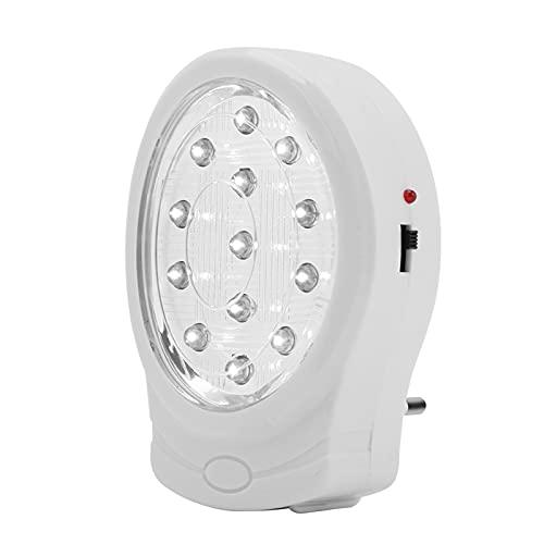 Walfront Luz de Emergencia para el hogar Luz LED de Emergencia Recargable para Dormitorio Habitación de bebé Cocina Pasillo Escalera((US Plug))