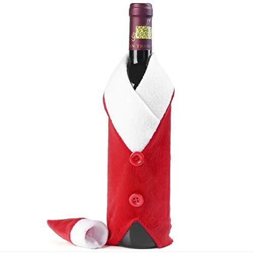 Weihnachten giftSTZLYChristmas Präsens Jungen Chri Buttons Tuch Hochzeit Weihnachten Dinner Table Flanell Plüsch Champagne Weinflasche Taschen Sets Geschenk