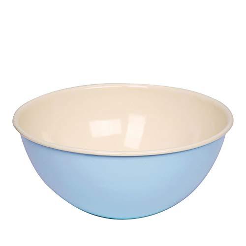 Riess 0438-006 Emaille, Schüssel, Schale, Salatschüssel, Obstschale, Ø: 30 cm, 5 Liter, Farbe: Hellblau