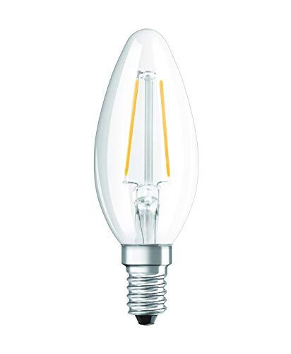 Osram LED Star Classic B Lampe, in Kerzenform mit E14-Sockel, nicht dimmbar, Ersetzt 25 Watt, Filamentstil Klar, Warmweiß - 2700 Kelvin, 1er-Pack